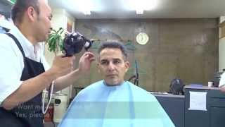 getlinkyoutube.com-Japanese Barber give me NEW HAIR!