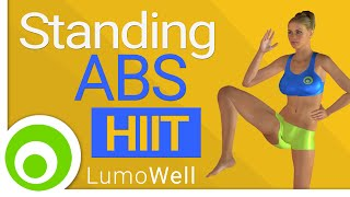 Standing ab workout : 10 minute hiit abs exercises to lose belly fat