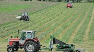 getlinkyoutube.com-Silage 2014-Moynihan Mowing, Baling and Wraping