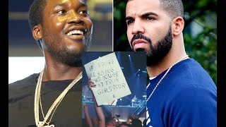 getlinkyoutube.com-Meek Mill Gets Mad at Fan Who Held up Drake Sign To Troll Him While He Performed.