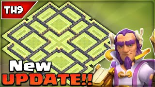 getlinkyoutube.com-Clash of Clans - BEST TH9 HYBRID BASE! (NEW UPDATE) EPIC Town Hall 9 Farming/Trophy Base!