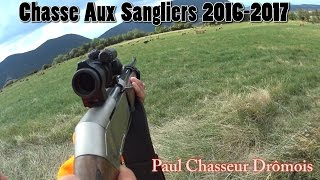 getlinkyoutube.com-Chasse Aux Sangliers 2016-2017 - Tir De Plusieurs Sangliers !!