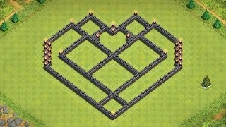 CoC: EPIC Town Hall 7 Farming base Build! Heart Design