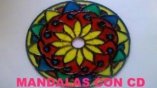 getlinkyoutube.com-Tutorial - Cómo hacer Mandalas con CD