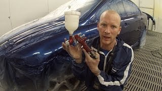 How to Spray Paint Clear over Base