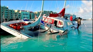 getlinkyoutube.com-OUCH!! What NOT TO DO with a sailboat near a REEF...  in St Maarten / St Martin, SXM, CARIBBEAN