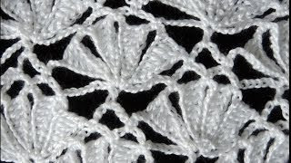 getlinkyoutube.com-Crochet : Punto Fantasia # 6.  Parte 1 de 2
