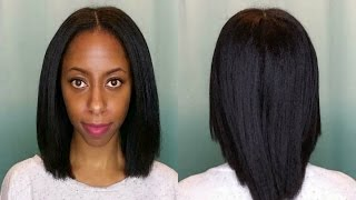 getlinkyoutube.com-How I get my 4c natural hair straight without heat damage!