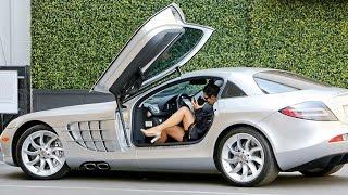 getlinkyoutube.com-Kim Kardashian Hits The Salon In A New Mercedes McLaren