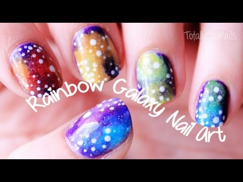 Rainbow Galaxy Nail Art | TotallyCoolNails