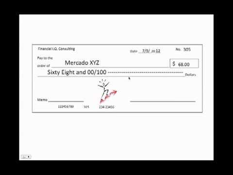 Como llenar un cheque