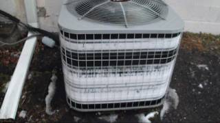 getlinkyoutube.com-2004 Carrier 3-ton heat pump EXTREMELY FROZEN AGAIN!