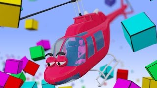 getlinkyoutube.com-VIDS for KIDS in 3d (HD) - Helicopter for Children Smashing Cubes - AApV