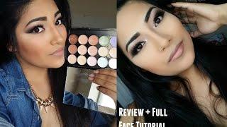 getlinkyoutube.com-BEAUTY EVOLVED Primer, Concealer, Corrector Palette Review + Full Face Contouring + Highlighting