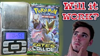 getlinkyoutube.com-WILL IT WORK?? Weighing Pokemon Fates Collide Booster Packs!!