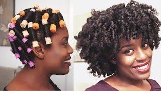getlinkyoutube.com-Heatless Perm Rod Set On Damp Hair | Day 1 and 2 Natural Hair - ParisIn85
