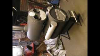 getlinkyoutube.com-Worlds Coolest Double Barrel Stove. McGuire Stove!!!