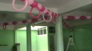 getlinkyoutube.com-decoracion con globos  BAUTIZO