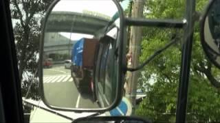 getlinkyoutube.com-トレーラーの運転手目線・左バックミラー編