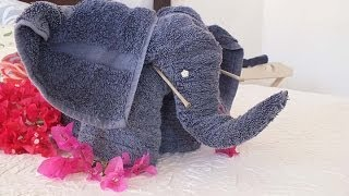 getlinkyoutube.com-How to make an elephant from towels