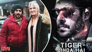 TIGER ZINDA HAI Poster - Salman Khan - Fan Made, Salman POSES With Crew Member Rebecca Pitt