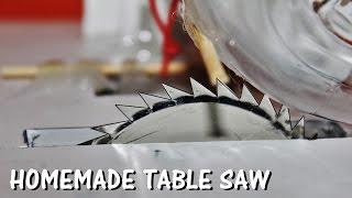 getlinkyoutube.com-How to make a Table Saw at Home  - Easy