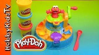 getlinkyoutube.com-PLAY DOH Elmo Color Mixer Box Opening Review and Play Sesame Street HobbyKidsTV