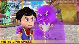 Vir : The Robot Boy   Vir Vs Jinn Uncle   3D Action shows for kids   WowKidz Action width=