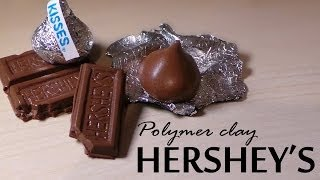 getlinkyoutube.com-Hershey's Kiss & Chocolate Bar - Polymer Clay Tutorial