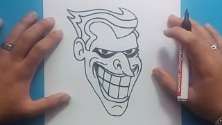getlinkyoutube.com-Como dibujar a el Joker paso a paso - Batman | How to draw the Joker - Batman
