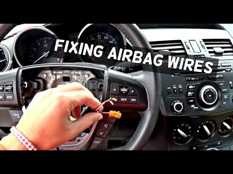 How to Fix Exploded Steering Wheel Airbag wires Demonstrated on Mazda 3