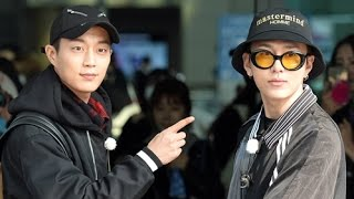 170413 Dujun And Junhyung At Incheon International Airport