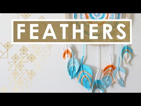 Fiber Feather Dreamcatcher DIY   Get Crafty Collab