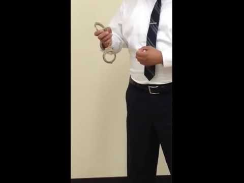 Handcuff nomenclature, parts of a Handcuff, Handcuffing Training
