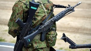 getlinkyoutube.com-陸上自衛隊 89式5.56mm小銃 5.56mm機関銃MINIMI 空砲射撃まとめ 2