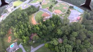 Syma x8c with gopro hero 3+ super high fly with crazy crash