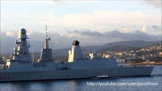 getlinkyoutube.com-Italian destroyer D554 CAIO DUILIO leaving La Coruña