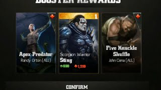 getlinkyoutube.com-WWE Immortals - Gold Sting Challenge Booster Pack Opening | Sting Scorpion Warrior Gold Card