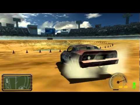 SLRR FlatOut Edition (alpha version) - GamePlay (2011)