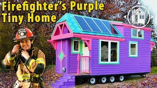 getlinkyoutube.com-Colorful Victorian Tiny House for a Female Firefighter