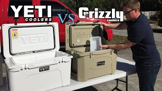 getlinkyoutube.com-Grizzly Coolers Vs Yeti, Who Lasts Longer? Ice Challenge Results, Yeti Tundra 45 Vs Grizzly 40 Q