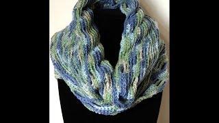getlinkyoutube.com-Crochet : Bufanda Infinita Circular
