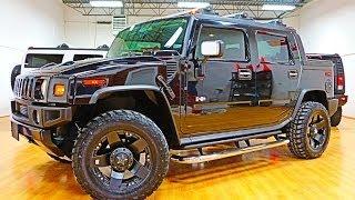 """getlinkyoutube.com-2005 Hummer H2 SUT For Sale~Black/Black~LOADED~Navi~20"""" XD Rims~LOW MILES!!"""