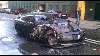 getlinkyoutube.com-Nissan GT-R (r35) Crashes | Аварии Ниссан GT-R (r35)