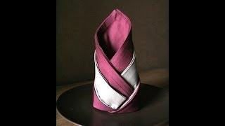 getlinkyoutube.com-Servietten falten: Wappenlilie napkin folding lily noun