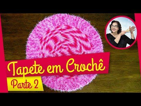 TAPETE EM CROCHÊ BARROCO E DECORE ROSA PARTE 2 COM EDINIR-CROCHE