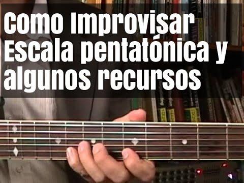 Como improvisar en guitarra-Escala pentatonica y algunos recursos
