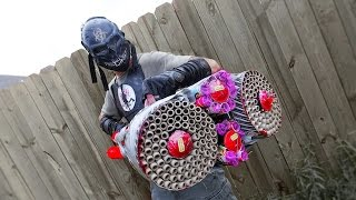 getlinkyoutube.com-CRAZIEST FIREWORKS GUN EVER MADE! 1500 FIREBALLS! Zombie Go Boom