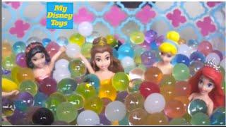 getlinkyoutube.com-ORBEEZ BARBIE POOL SPA Party With Disney Princess  - أميرات ديزنى فى مسبح باربى الحلقه #١