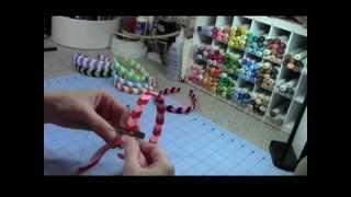 getlinkyoutube.com-Chevron Woven Ribbon Headband Tutorial
